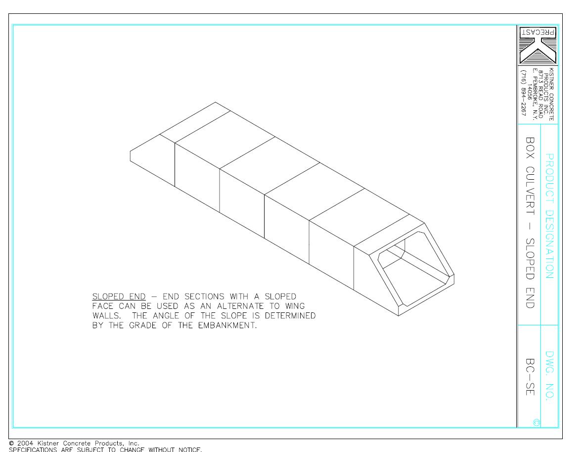 Box Culvert Sloped End - Kistner Concrete Inc